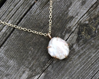 Pearl Necklace/June Birthstone/June Birthstone Necklace