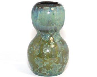 Avril Green Crystalline Glaze vase