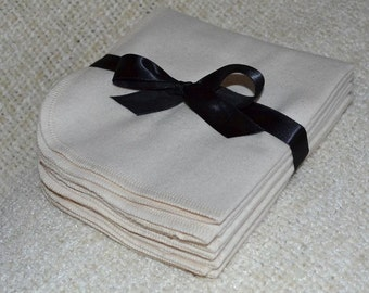 11x12 2ply Flannel GOTS Certified Organic Cotton Paperless Towels- With Organic Cotton thread upgrade