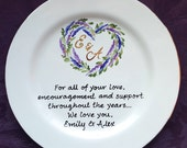 Wedding Mother of the bride gift - Gift Mother of the Groom Wedding gift for Mom and Dad - Thank you Mom & Dad -Parents gift-ELEGANCE Heart