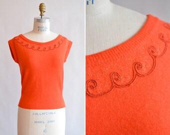 Vintage 1950s ANGORA wool sweater
