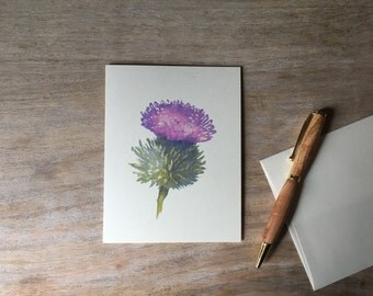 Thistle Note cards - Watercolor flower Notecards - Artist Notecards - Stationary set - Gift set