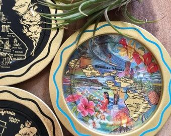 Vintage California and Hawaii Coasters Set of 5