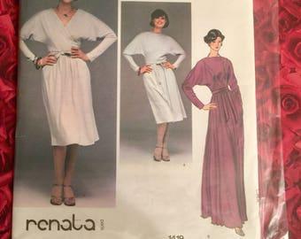 70's? Vogue French Boutique Sewing Pattern Designer Renata