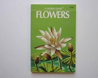 vintage GOLDEN book - FLOWERS - circa 1950 - flower identification, reference book