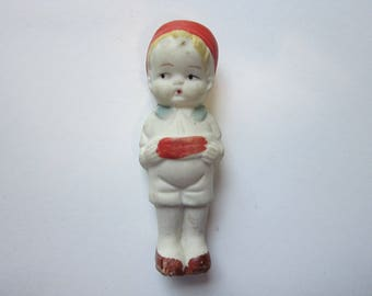 vintage bisque PENNY DOLL - marked JAPAN - 3.375 inches