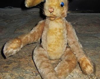 Vintage mohair long-legged Steiff Lulac rabbit-no button.