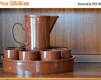 SALE 30% OFF vintage DANSK brown beverage set by gunnar cyren
