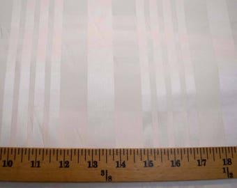 White Satin Stripe Fabric