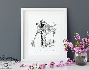 And they lived happily ever after/8x10 Art Print/Art Print/Print/Wedding Art Print/Wedding Print/Cute Art Print/Couple Art Print/Love Print