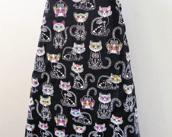 Ironing Board Cover - kitty cats pussy kittens xray flowers bones bright feline