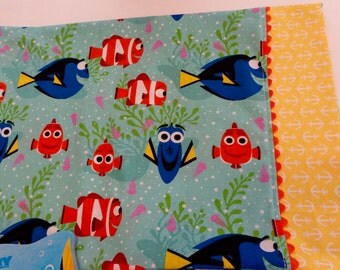 Dory Fabric Child Travel Daycare Pillowcase 12 x 16 size  + Tote Bag + Book