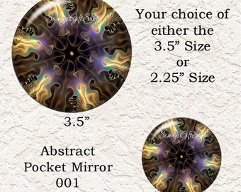 Abstract Pocket Mirror Your Choice Of 4 Different Prints Buy 3 Mirrors Get 1 Mirror Free  614