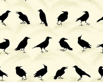 DooDads from Paintbrush Studios - Full or Half Yard Ravens on Cream