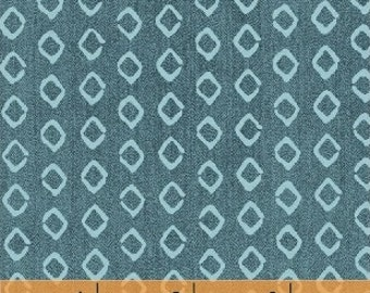 Atlas by Another Point of View for Windham Fabrics - Full or Half Yard Modern Blue Diamonds Fabric
