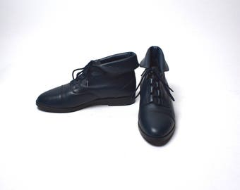 Navy Ankle Booties by Prima Royale, Women's Size 7