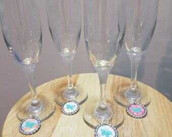 Flute Glasses and Charms
