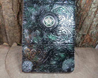 Witch's Journal, Pentacle Book of Shadows, Witchcraft, Wiccan Spellbook, Tarot Journal, Witchcraft Grimoire, Dream Journal, Pagan, Witch
