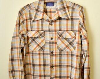 Vintage Plaid Pendleton Shirt sz. Medium