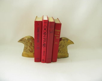 Brass Book Ends, bookends, eagle, USA, Patriotic