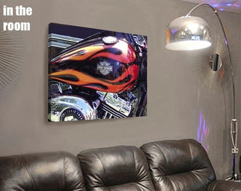 HARLEY ON CANVAS Motorcycle Art