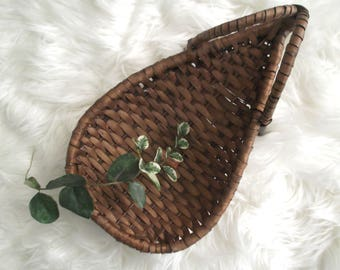 Boho Basket Planter Bohemian Wall Basket Air Plant Holder Woven Rattan Basket Jungalow Decor