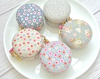5 cm Tilda Macaron purse, fabric macaron pouch, Jewelry case, macaron coin purse, womens gift
