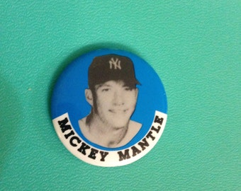 Mickey Mantle Button Pin