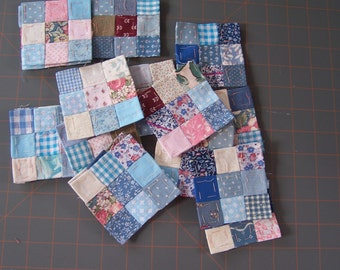 Nine Patch Quilting Pieces