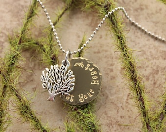 Tree Trust Your Heart Necklace