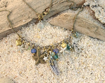 Feather Mermaid Ocean Charm Necklace SALE