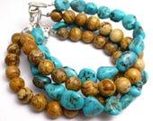 Turquoise Bracelets Picture Jasper Bracelets His Hers Anniversary Gift