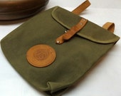 "Retro Canvas & Leather ""Mini"" Backpack-Children's Backpack-Army Green"