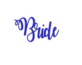 Bride Digital Embroidery Machine Applique Design