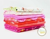 "Wee Wander - Sunrise - 8 Fat Quarter (18""x21"") Bundle Quilt Fabric - by Sarah Jane for Michael Miller"