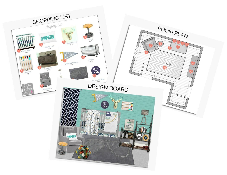 Baby Nursery Interior Design Service Custom E Design Virtual Interior Design Design