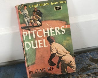 Vintage Hard Cover Baseball Book, 1950s Baseball Book, Children's Sports Book, Clair Bee Book, Pitchers' Duel