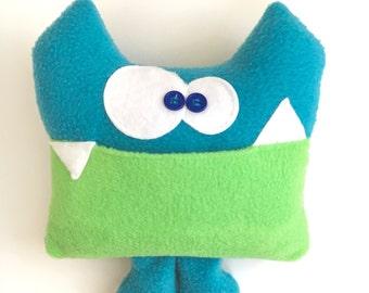 Kids Monster Plush - Tooth Fairy Pillow - Soft Stuffed Monster - Soft Monster Plush - Tooth Fairy Chart - Tooth Pillow - Monster Plushie