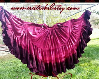 Custom Hand Dyed Double Dipped Skirt