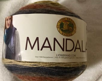 Lion Brand Mandala Yarn Cake centaur # 214 Color Change #3 Weight 5.3 oz 590 yrds mixed  colors