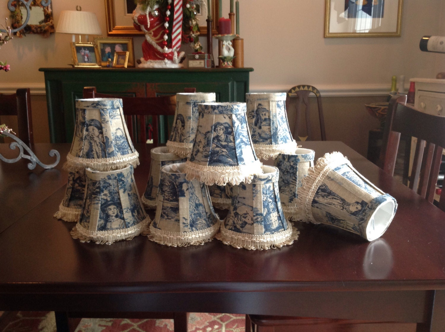 Toile lampshade – Toile Chandelier Shades