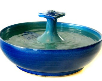 "Cat Water Fountain ""Blue Teal Water Table"""