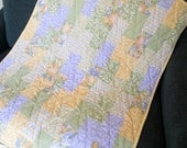 Sunshine and Summer Baby Quilt, Crib or toddler Quilt/Baby Blanket