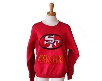 50% half off sale // Vintage San Francisco 49ers Football Sweatshirt  - 80s NFL - Women Men L