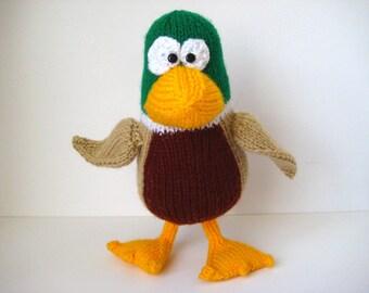 Puddles the Mallard toy knitting patterns