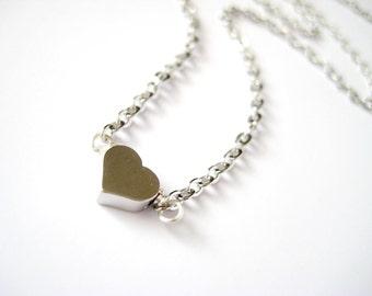 Tiny Heart Silver Necklace