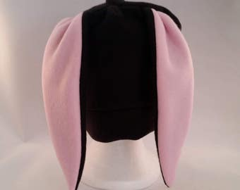 Custom black bunny rabbit hat short ears