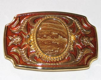 Gold and Copper Belt Buckle, Sandstone