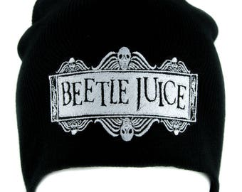Beetlejuice Beanie Knit Cap Dark Alternative Gothic Clothing Betelgeuse Lydia Deetz - YDS-EMPA-062-Beanie