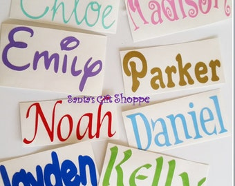 """1 Name Decal - 2"""" Tall Name Sticker - Personalized Easter Decal - Various lengths - 1 Vinyl Name Decal - Personalized Name - Vinyl Decal"""